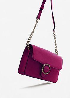 Buckle leather bag | MANGO