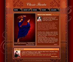 Classic Theatre Website Templates by Di