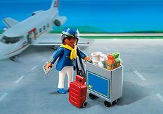 Flugbegleiterin mit Servicewagen - PM Germany PLAYMOBIL® Deutschland