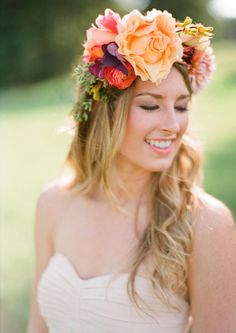 Floral Crown. Why, just why? Why would you want a flower growing out of your head that's as big as your head?