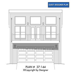 Traditional Style 2 Car Garage Apartment Plan Number 51680 with 1 Bed, 2 Bath Garage House Plans, New House Plans, Modern House Plans, Car Garage, Coastal House Plans, European House Plans, Modern Garage, Building Section, Garage Apartments