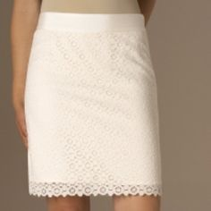 NWT-The Limited-Lace Skirt White Lace Skirt With Lining and Zipper on the side. 64% Cotton, 21% Nylon, 15% Rayon. Lining: 100 % Polyester. The Limited Skirts Pencil
