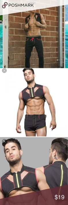 Andrew Christian Andrew Christian Get into Vest  Black sz L  Brand new with tags Andrew Christian Shirts Tank Tops