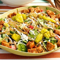 This salad has it all: smoky BBQ flavor, a Cajun kick, and crisp cool veggies to balance it all out.