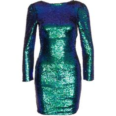 Club L Mermaid Bodycon Dress ($87) ❤ liked on Polyvore featuring dresses, mermaid, party dresses, womens-fashion, stretch bodycon dress, short blue dresses, sequin dress, blue dress and bodycon cocktail dress