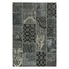 Celestial-Patchwork 3246 Flat Woven Rectangle Area Rug - Azure Smoke - 3246RS05000800400