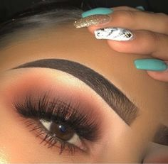 Nails Archives – Page 5 of 78 – Hair and Beauty eye makeup Ideas To Try – Nail A… - Best Make-Up Makeup Eye Looks, Cute Makeup, Prom Makeup, Eyebrow Makeup, Gorgeous Makeup, Pretty Makeup, Eyeshadow Makeup, Hair Makeup, Eyeshadows