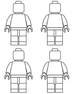 Free Lego Printable Mini Figure Coloring Pages #free #lego