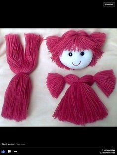 Mimin Dolls, pictoral on hairrag doll hair tutorial/ coser pelo a muñecajacket for dolls diyPin doesn& link well.The content for you if you like fabric dolls fabricdolls – Artofit Yarn Dolls, Sock Dolls, Felt Dolls, Fabric Dolls, Crochet Dolls, Dolls Dolls, Doll Wigs, Doll Hair, Doll Crafts