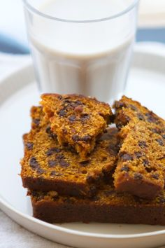 pumpkin chocolate chip bread. I'm going to have to lighten this one.