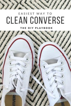 How to clean your converse gym shoes in the washing machine. Such an easy way to take your dingy shoes to bright and white!