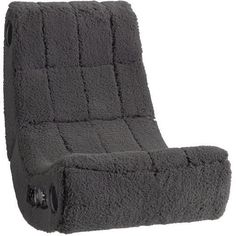Pottery Barn Teen Charcoal Sherpa Faux-Fur Modern Media Chair