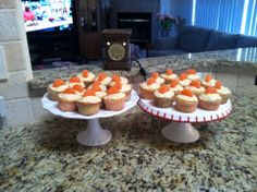 Find recipe at allrecipes.com under Beat and Bake orange cake. I made into cupcakes instead of cake.