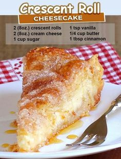 Crescent Roll Cheesecake, Sopapilla Cheesecake Bars, Cheesecake Desserts, Sopapilla Recipe, Best Cheesecake, Easy Cheesecake Recipes, Easy Desserts, Delicious Desserts, Dessert Recipes
