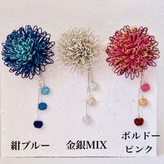 水引☆万寿菊のかんざし/ブローチ | ハンドメイドマーケット minne Minne, Suncatchers, Bobby Pins, Crochet Earrings, Hair Accessories, Handmade, Jewelry, Baskets, Bamboo