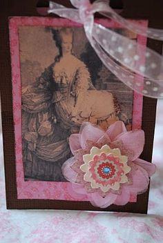 Marie Antoinette card, tutorial
