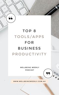 My top 8 productivity tools and apps for business and mroe effective use of your time Prioritize, Health And Wellbeing, Best Self, Time Management, Business Tips, Entrepreneurship, Productivity, Apps, How To Get