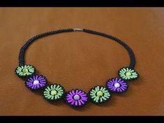 """Колье из бисера """"Нинель"""". Мастер класс / Necklaces of beads. Beading - YouTube"""