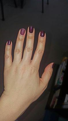 Glittery purple with polka dots