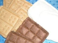 S'mores felt play food  set of 8. $12.00, via Etsy.