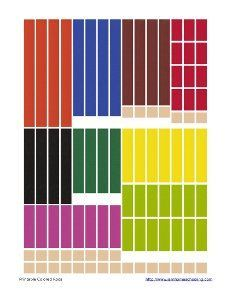 Printable Cuisenaire® Styled Colored Rods & other math manipulatives
