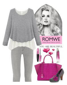 """""""Romwe"""" by veronica7777 ❤ liked on Polyvore featuring Frame Denim, Fendi, Ruby Shoo, L'Oréal Paris and Givenchy"""