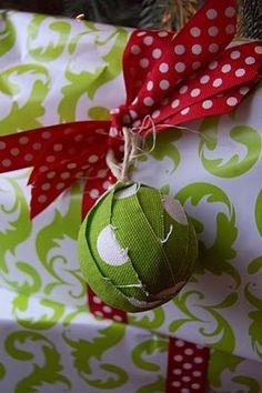 scrappy fabric ornaments