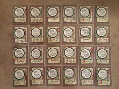 """airbornewife's stamping spot: """"YOU MEAN THE WORLD TO ME"""" lot of cards *w/measurements"""