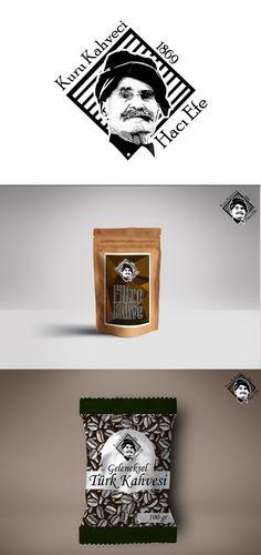 Kuru Kahveci Hacı Efe logo çalışması ve ambalaj tasarımları