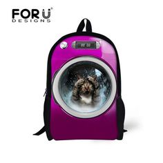 911fde2f5e FORUDESIGNS Cute Backpack for Primary School Students Animal Dog Cat  Pattern School Bag Girls Boys Shoulder Backpacks Sac Enfant