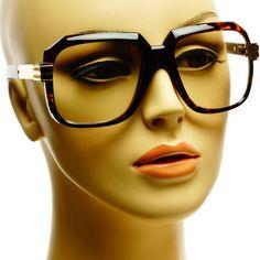 Clear Lens Gazelle Cazal Retro Style Square Aviator Eye Glasses Frames Tortoise #Oem #Round