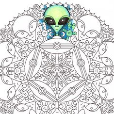 alien coloring page monster 5 Halloween Coloring Pages