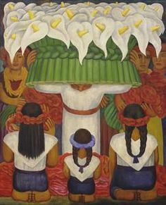 Diego Rivera (1886-1957) Flower Festival: Feast of Santa Anita 1931 Collection Museum of Modern A...