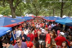 There's nothing quite like tailgating in the Grove at Ole Miss.
