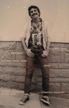 """Hal Fischer, """"Street Fashion, Basic Gay"""" (1977). From Gay Semiotics: A Photographic Study of Visual Coding among Homosexual Men."""