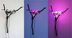The Neon Nest, 2010 neon lights, found wood, acrylic x Ryan Livingstone Livingstone, Neon Lighting, Nest, Lights, Cool Stuff, Colors, Wood, Design, Fashion