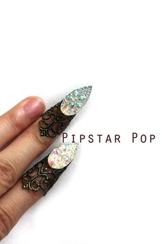 Iridescent Cat Claw finger tip ring 1 piece or Set by PipStarPop