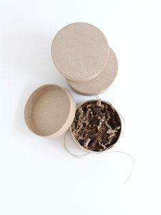 Just added new two-piece round kraft boxes! Perfect for tiny packaging needs!