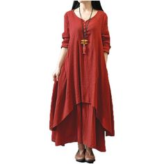 Top Fashion  Autumn Women Casual Loose Long Sleeve Dress Cotton Linen Solid Long Maxi Dress Vestidos Plus Size S-5XL $26.72   => Save up to 60% and Free Shipping => Order Now! #fashion #woman #shop #diy  http://www.greatdress.net/product/top-fashion-2016-autumn-women-casual-loose-long-sleeve-dress-cotton-linen-solid-long-maxi-dress-vestidos-plus-size-s-5xl/