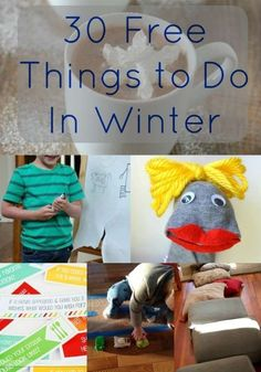 30 Free Things to Do with Kids Indoors in Winter - Prevent winter boredom and cabin fever with these fun kids activities that are great for all ages. Indoor Things To Do, Things To Do Inside, Kids Things To Do, Stuff To Do, Fun Things, Kid Stuff, Fun Games For Kids, Indoor Activities For Kids, Fun Activities For Kids