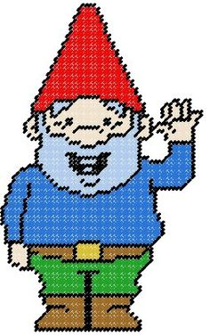 Waving Gnome Plastic Canvas Pattern by PCDesignz on Etsy