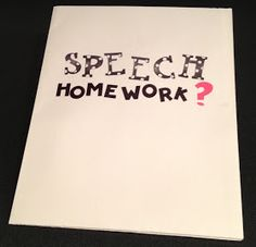 Speech Homework/Carryover ideas