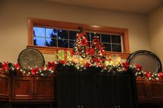 Savvy Seasons by Liz: Decorating the top of the Entertainment Unit for Christmas