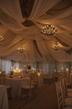 33 Ideas For Wedding Decorations Ceiling Draping Perfect Wedding, Dream Wedding, Wedding Day, Wedding Bride, Floral Wedding, White Tent Wedding, Wedding Burlap, Light Wedding, Baby Wedding