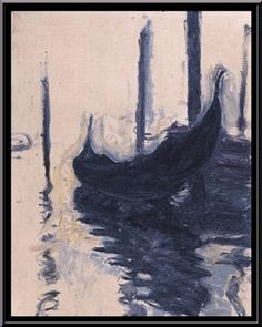 off Hand made oil painting reproduction of Gondola In Venice, one of the most famous paintings by Claude Oscar Monet. Claude Oscar Monet concluded the Impressionistic oil painting Gondola In Venice du. Claude Monet, Monet Paintings, Landscape Paintings, Landscape Art, Artist Monet, Venice Painting, Impressionist Paintings, Oil Painting Reproductions, Modern Art