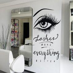 Wall Decal Eyelashes Decal Eyebrows Decal Lash Decal Beauty Salon Decal brow wall decal lashes 6l