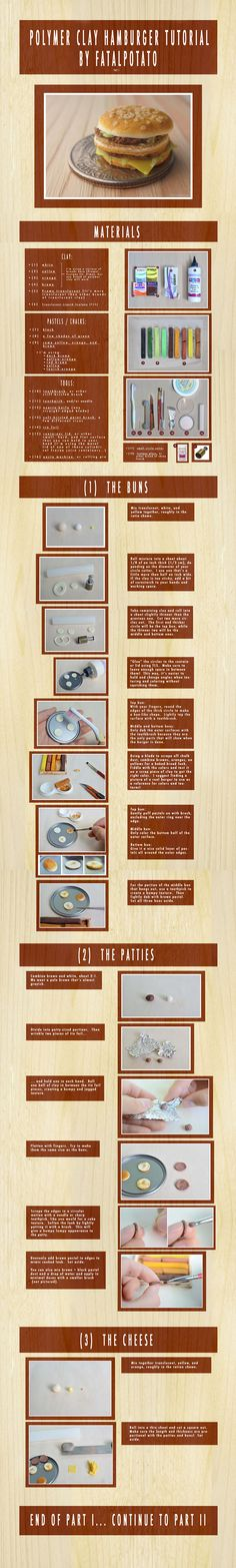 polymer clay hamburger tutorial- PART I by *FatalPotato on deviantART