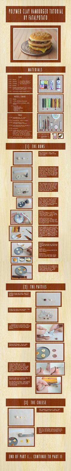 polymer clay hamburger tutorial- PART I by *FatalPotato on deviantART