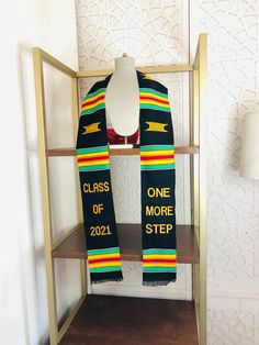 We custom graduation stole Graduation Stole, College Graduation, Suit Accessories, Wedding Suits, Sash, Special Day, Weaving, Gift Wrapping, Handmade