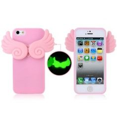 Flying Wings Glow in the Dark Pink iPhone 5 Case